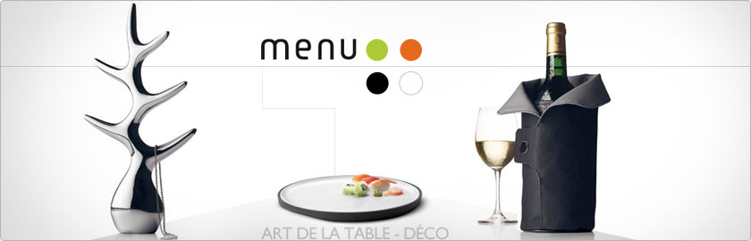 menu art de la table design