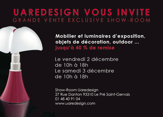 Invitation la vente priv e dans le show room uaredesign - Vente privee meuble deco ...